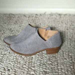 Lucky Brand  Brooklin perforated suede booties